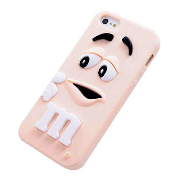 M&M's Chocolate Beans Soft Silicon Phonecase for iPhone 5c (Pink).