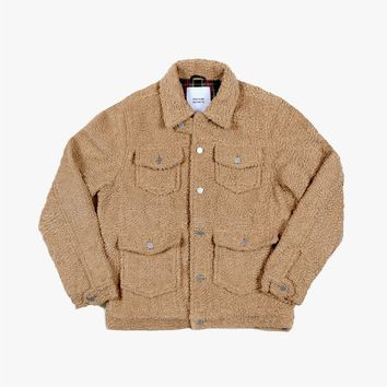 Shearling Trucker Jacket in Cream