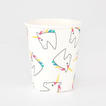 My Little Day - 8 Paper Cups - Unicorns