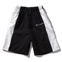 Champion splices a string of standard cursive large standard windbreaker wool circle casual pants five minutes