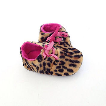 0-3 Months Slippers / Baby Shoes Lamb Leather pastel pink  suede