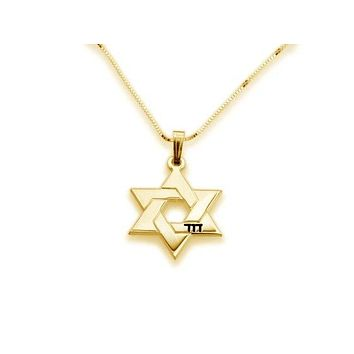 Personalized Modern Star of David Name Necklace
