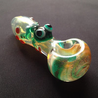 Frog Critter Hand Blown Glass Pipe