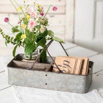 Rustic Ava Divided Stationery Caddy