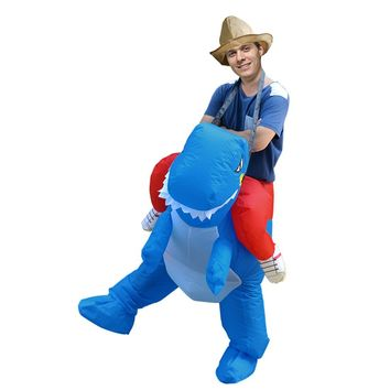 Unisex Disfraces Adultos Blue Inflatable Dinosaur Costume Fancy Dress Halloween Costumes for Women Mascots and Costumes