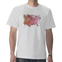 dancing pigs shirts from Zazzle.com
