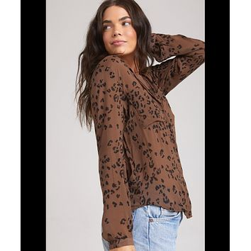 Hipster Shirt, Brown Leopard