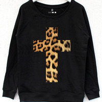 Leopard Cross Jumper | BATOKO