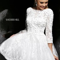 Embellished Cocktail Dress by Sherri Hill