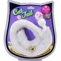 Cat Tail -- White ~ Cat Type Anal Plug