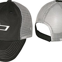 Chevy Bowtie Black and Gray Mesh Hat