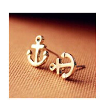 EY510 Latest Fashion Mischa Barton Wishing Models Retro Anchor Earrings Collarbone Jewelry Factory Direct