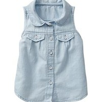 Peter Pan chambray top