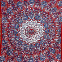 Large Indian Psychedelic Star Mandala Tapestry Wall Hanging, Hippie Wall Tapestries, Bohemian Boho Bedspread Décor Tapestry