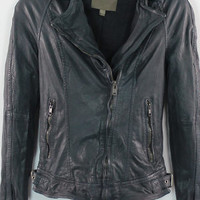 Muubaa Nassau Biker Jacket in Dark Turquoise - On Sale | Muubaa Biker Jacket ($434.00)