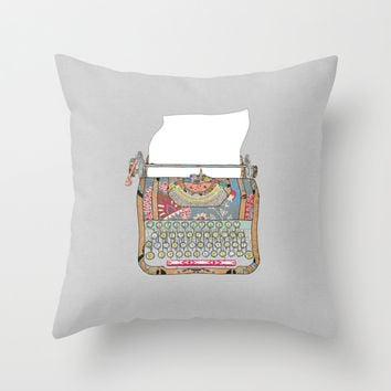 I DON'T KNOW WHAT TO WRITE YOU Throw Pillow by Bianca Green