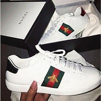 Gucci men and women tide brand fashion embroidery sneakers shoes F