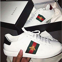 GUCCI Classic Fashion Embroidered Sneakers Shoes F