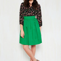 How in the Whirl? Skirt in Clover