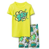 Food Truck 2-Piece Shortie Pajamas