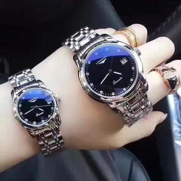 Longines Lover Couple Fashion Luxury Noble Simple Wristwatch Watch
