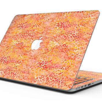 Orange Watercolor Leopard Pattern - MacBook Pro with Retina Display Full-Coverage Skin Kit