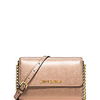MICHAEL MICHAEL KORS - Jet Set Saffiano Leather Crossbody Bag - Saks Fifth Avenue Mobile