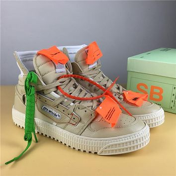 Off White Co Virgil Abloh 18ss Brown Size 36 44 | Best Deal Online