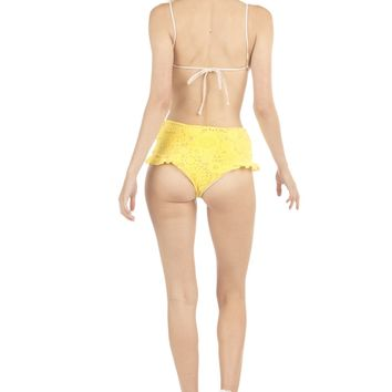 Lolli Swim BFF Ruffle Bikini Bottom - Yellow