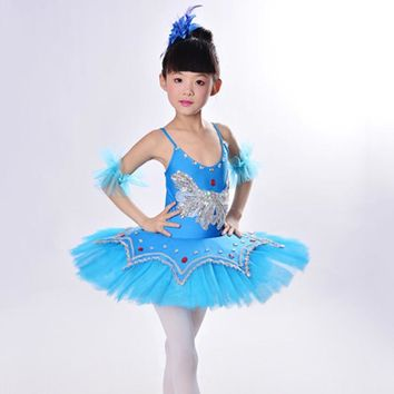 New Kids Dancewear Ballet Clothes Children Performance Costume Gymnastics Dance Dress Leotard Skate Professional Ballet Tutus