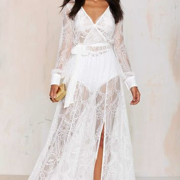 Nasty Gal One and Only Lace Maxi Dress