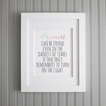 Harry Potter Quote, Dumbledore Quote, Inspiration and Wall Art, Motivation Art Print, Motivation Wall Poster, Home Decor