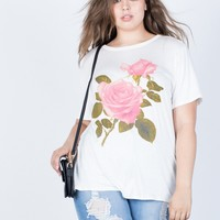 Plus Size Rosey Graphic Tee