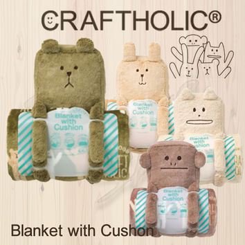 Blanket & cushion (LORIS) ★ craft Hollick, CRAFTHOLIC, blanket Relax CRAFT