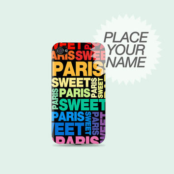 Personalized your name or whatever on Plastic Hard Case - iphone 5 - iphone 4 - iphone 4s - Samsung S3 - Samsung S4 - Samsung Note 2