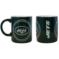 New York Jets NFL Coffee Mug - 14oz Sculpted Warm Up (Single Mug)