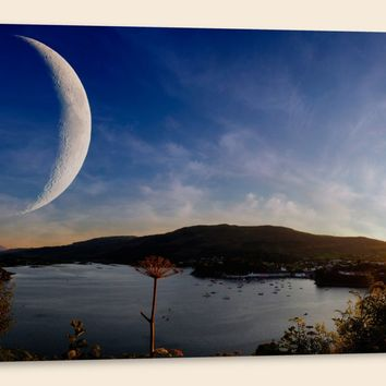 """Sunset on Another World, Panorama (20"""" x 48"""") - Canvas Wrap Print"""