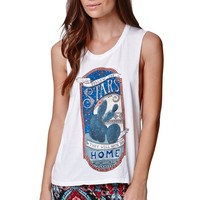 Element Star Guide Muscle Tank - Womens Tee - White