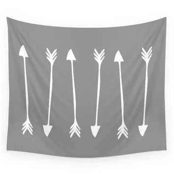 Society6 Grey Arrows Wall Tapestry