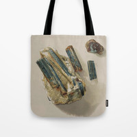 Natural Turquoise Tote Bag by Blue Specs Studio