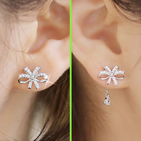 Glamorous Bow Wrapping Ear Cuffs - LilyFair Jewelry