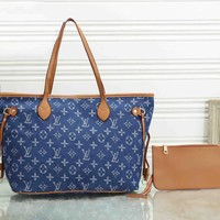 *Louis Vuitton * Shoulder Women Bag Handbag Two-Piece Set