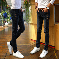 Jeans Winter Korean Stretch Slim Skinny Pants [10366812995]