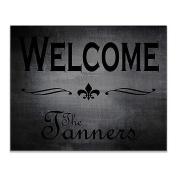 Personalized Family Welcome Print Wall Art