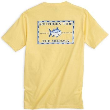 Original Skipjack Tee Shirt in Pineapple by Southern Tide
