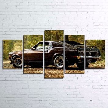 1970 Ford Mustang GT 302  Wall Art on Canvas Print Picture Framed UNframed