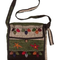 NEW! Jumping in Leaves Flap Bag