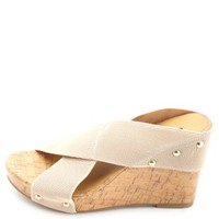 X-Band Mule Platform Wedges by Charlotte Russe