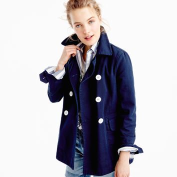 Peacoat in heavyweight cotton twill : Women trenches & anoraks | J.Crew