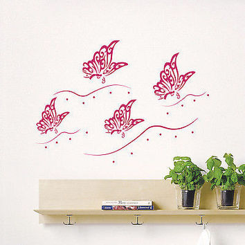 Wall Decals Butterfly Decal Bedroom Nursery Room Vinyl Sticker Decor Art MR582